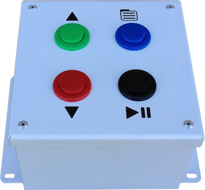 Image showing the Lean Tempo Basic Takt Timer to highlight the simple button interface