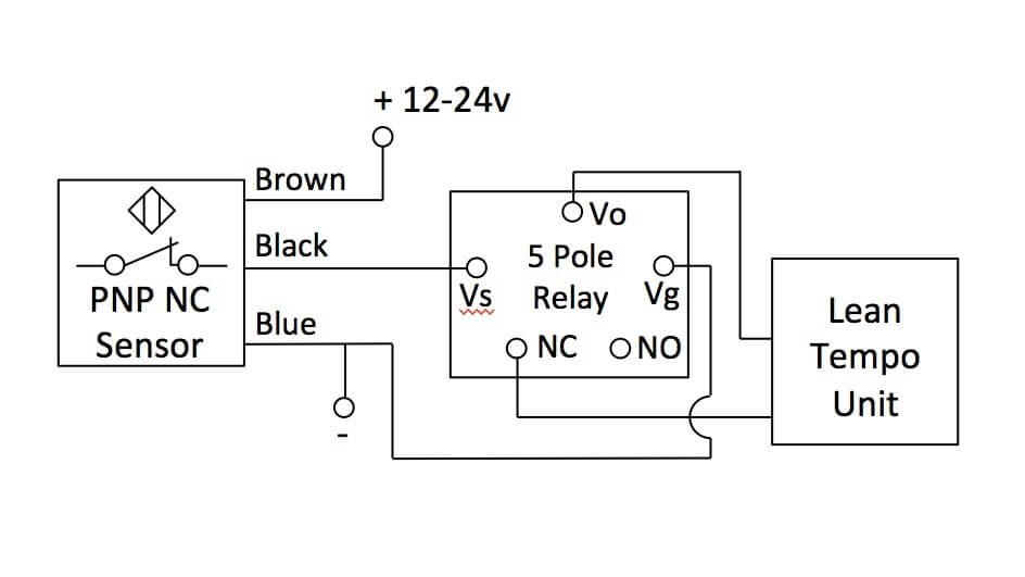 Normally Closed PNP Sensor Wiring Digram